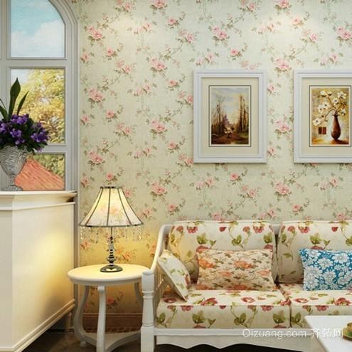 唯美文艺范 韩式卧室背景墙装修效果图