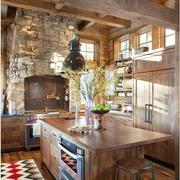 美式乡村风格厨房装修设计图