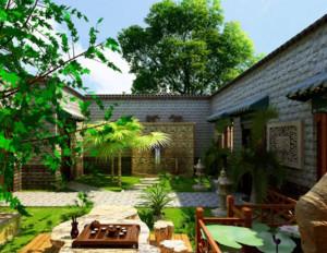 别墅庭院设计装修效果图