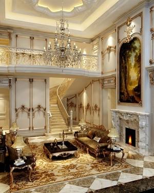 贵族专属的法式风格室内楼梯设计图片大全