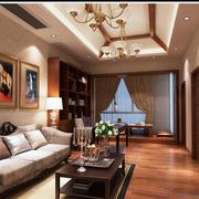 中式风格榻榻米床装修客厅图
