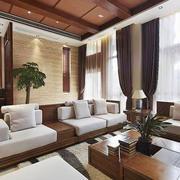 客厅装修窗帘图