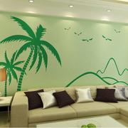 客厅硅藻泥背景墙装修造型图