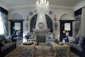 自然清爽的地中海风格别墅客厅装修效果图欣赏