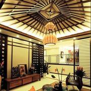 别墅客厅吊顶装修整体图