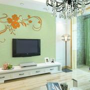 客厅硅藻泥背景墙装修灯光设计