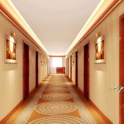 宾馆装修走廊图