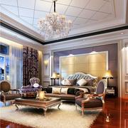 欧式风格卧室壁纸装修沙发图