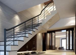 两层楼房简约楼梯设计装修效果图