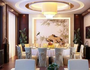 现代简约高级酒店室内装饰画装修效果图