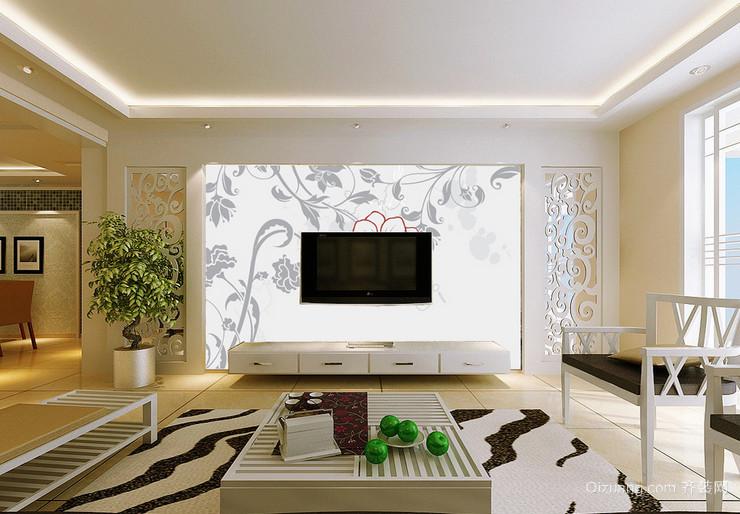 90平米超有意境的欧式电视背景墙装修效果图
