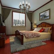 卧室装修窗帘图