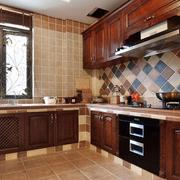 开放式厨房装修飘窗图