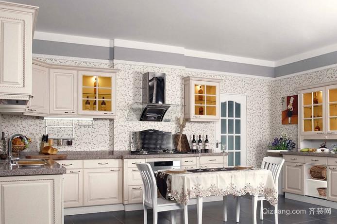 简欧风格厨房精美橱柜装修效果图