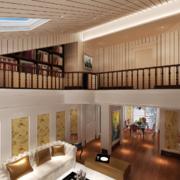 复式楼客厅装修造型图