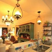 开放式厨房装修吊顶图