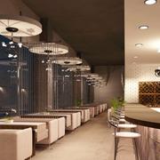 地中海风格咖啡厅装修桌椅图