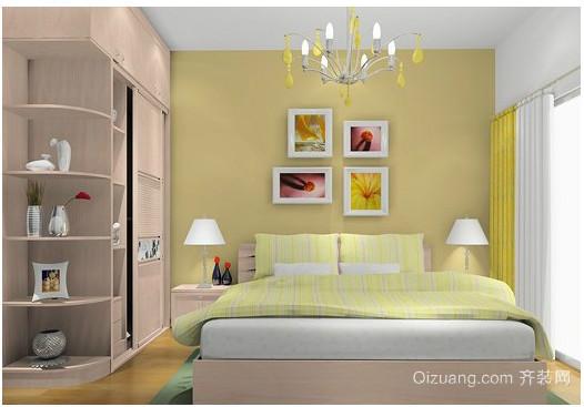 北欧别墅卧室壁纸装修效果图