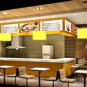快餐店装修造型图