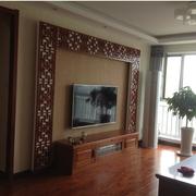 客厅硅藻泥背景墙装修飘窗图