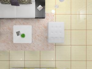 别墅欧式客厅地砖美缝效果图