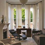 别墅窗户装修设计窗帘图