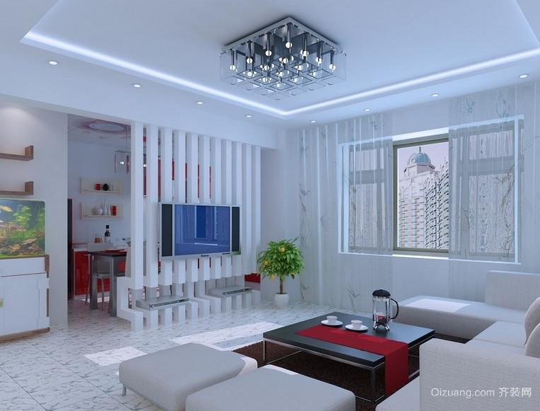 90平米大户型现代都市客厅装修隔断效果图