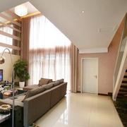 客厅窗帘装修吊顶图