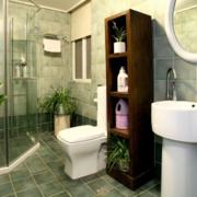 卫生间置物架装修隔断图