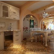 地中海风格厨房装修色调搭配