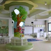 幼儿园手绘墙装修吊顶图