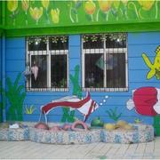 幼儿园手绘墙装修外景图