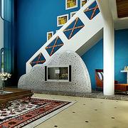 地中海风格楼梯装修背景墙图