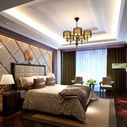 中式风格窗帘装修吊灯图