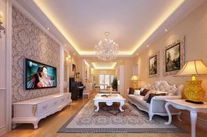 法式90平方米房屋装修效果图大全