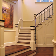 美式风格楼梯设计背景墙图
