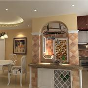 东南亚风格厨房装修灯光设计