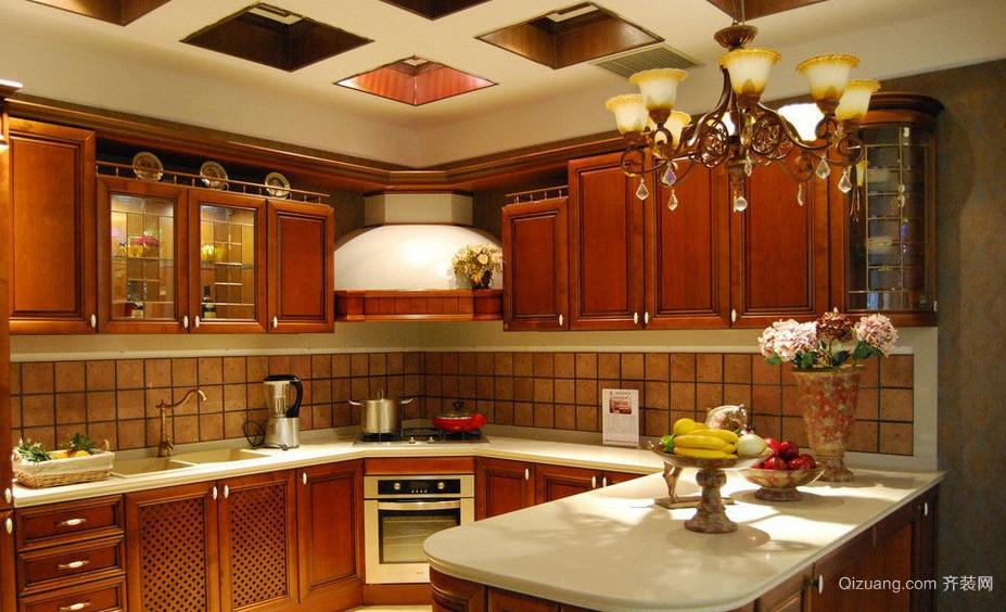 90平米厨房整体橱柜装修效果图