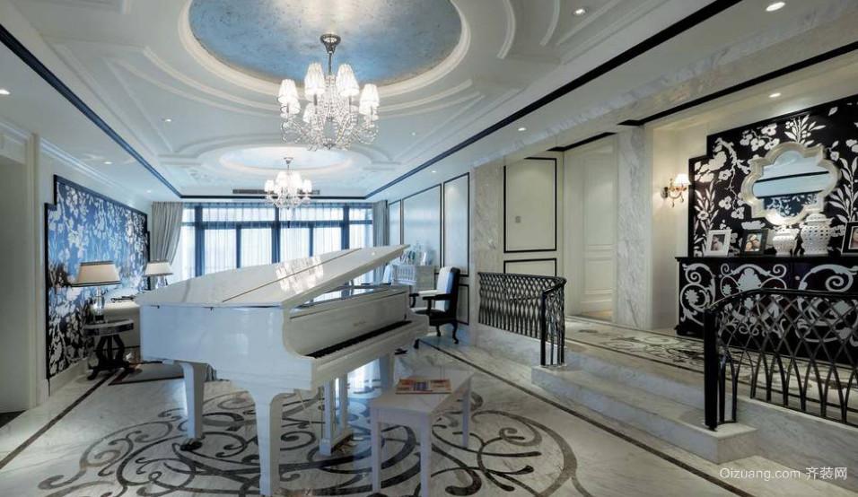 华美欧式风格客厅装修效果图