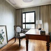 美式风格别墅装修窗帘图