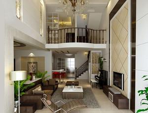 大户型地中海风格实木楼梯装修效果图