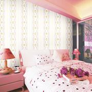 卧室墙纸装修窗帘图