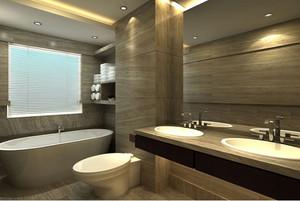 别墅型豪华卫生间装修效果图