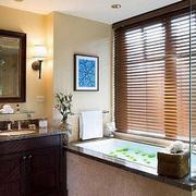 浴室百叶窗帘装修效果图