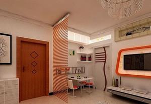 2015三室一厅大户型欧式客厅玄关装修效果图