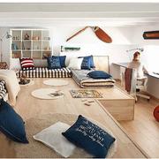 欧式风格榻榻米床装修整体图