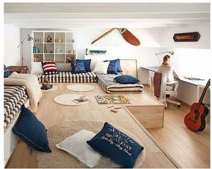 北欧风格榻榻米床装修效果图