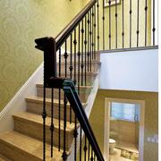 美式乡村风格楼梯装修扶手图