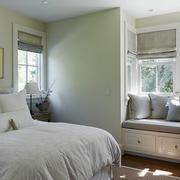 跃层式住宅卧室飘窗装修整体图
