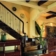 美式乡村风格楼梯装修色调搭配